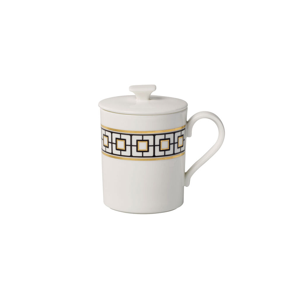빌레로이 앤 보흐 '메트로 시크' 기프트 머그 Villeroy & Boch MetroChic Gifts Mug with Lid 11.75 oz