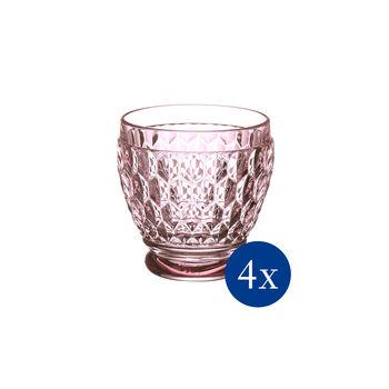 Boston Colored Shot Glass: Rose, Set of 4