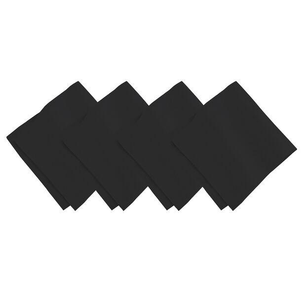 Black Dinner Napkin Black Set, , large