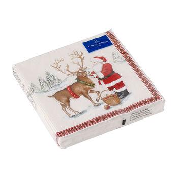 Winter Specials Luncheon Napkin: Reindeer