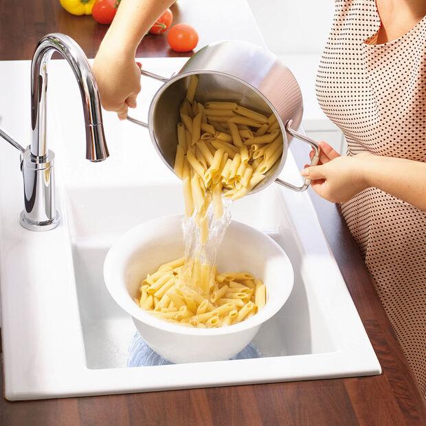 Clever Cooking Strainer/Serving Bowl: Blue, , large