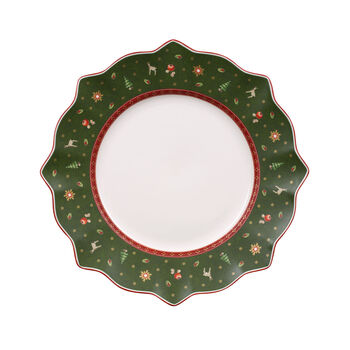Toy's Delight Dinner Plate: Green