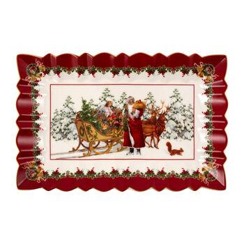Toy's Fantasy Rectangular Cake Plate: Santa & Sleigh