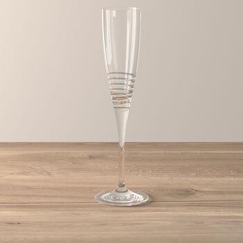 Maxima Decorated Champagne Flute: Spiral
