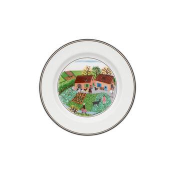 Design Naif Appetizer/Dessert Plate #5 - Family Farm