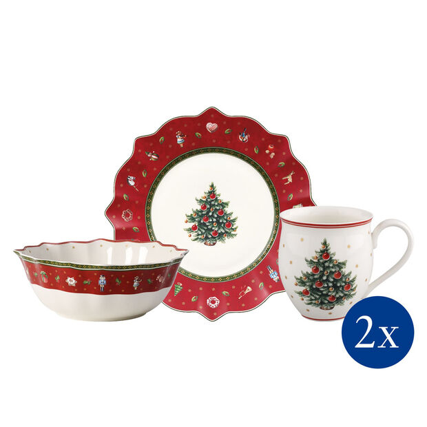 Toy's Delight Breakfast for 2: Red, Set 6 Pieces, , large