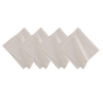 La Classica Napkin: White/Silver, Set of 4