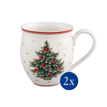 Toy's Delight Mug with Tree, Set of 2