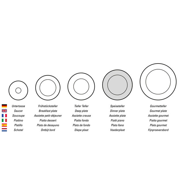 Design Naif Dinner Plate #4 - Old Village Square, , large