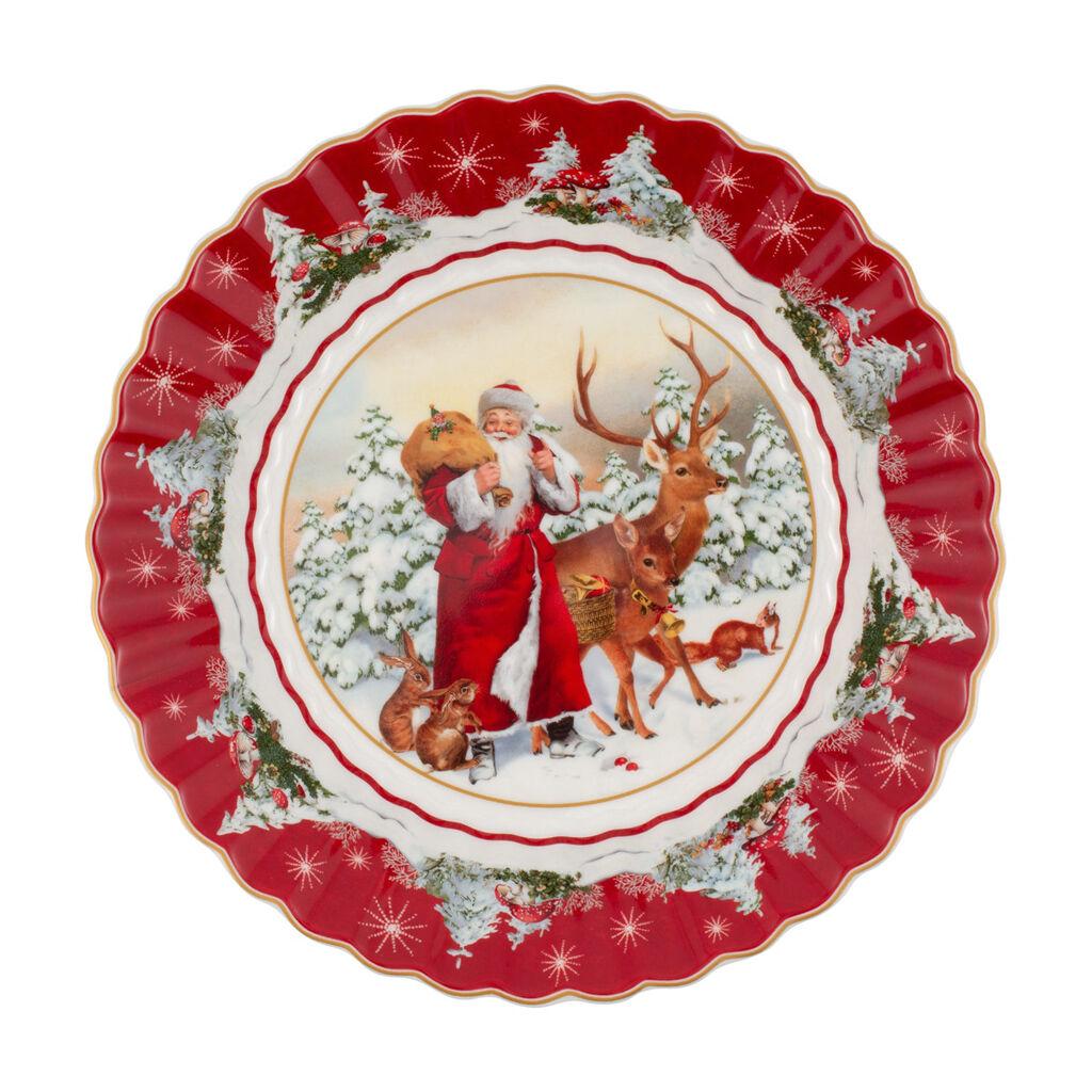 빌레로이 앤 보흐 '토이즈 판타지' 접시 Villeroy & Boch Toys Fantasy Bowl large, Santa with forest animals