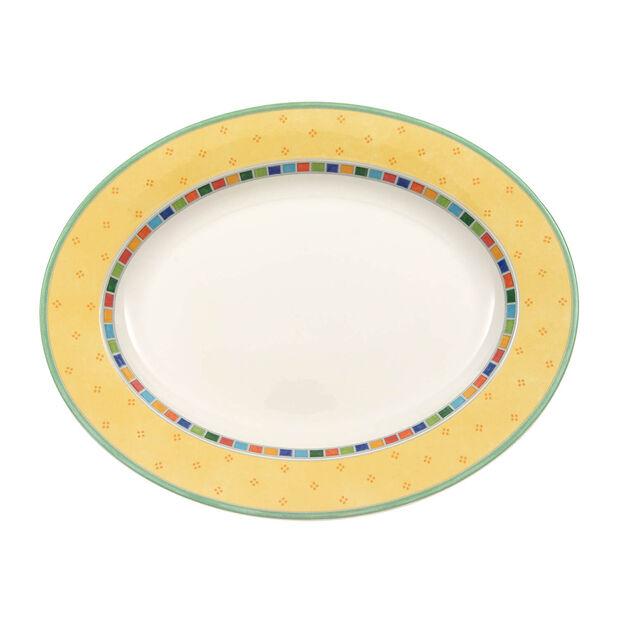 Twist Alea Limone Oval Platter, , large