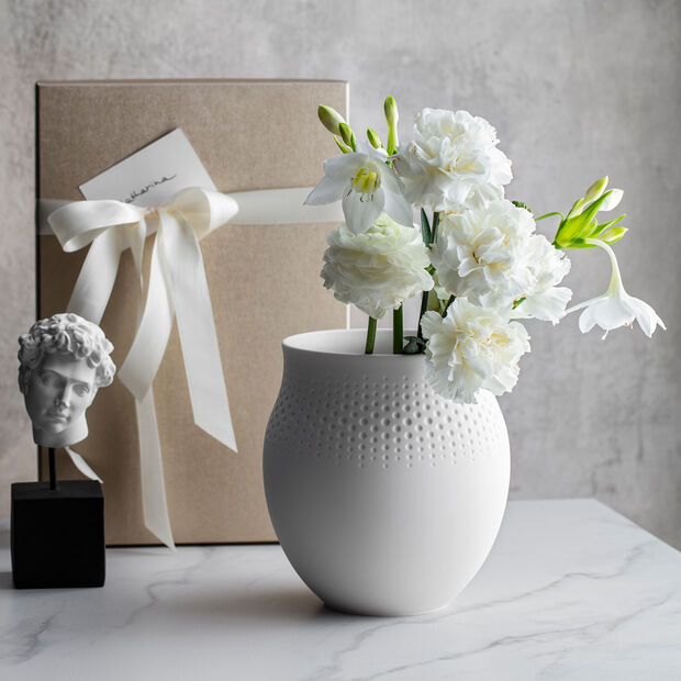Manufacture Collier Blanc Perle Vase, Large, , large