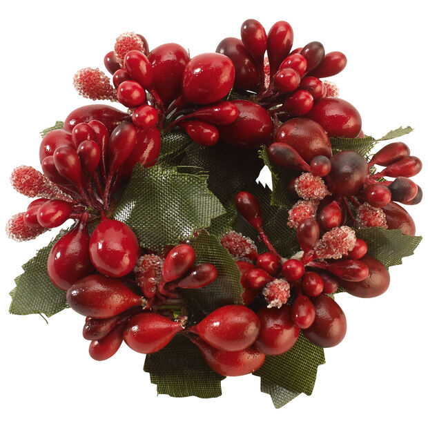 Winter Collage Accessories Napkin Ring with Berries, , large