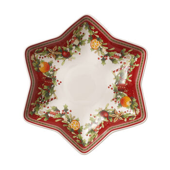 Winter Bakery Delight Footed Fruit Bowl: Star Shape