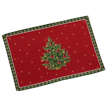 Toy's Delight Embroidered Placemat: Tree