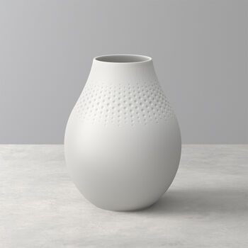 Manufacture Collier Blanc Perle Vase, Tall