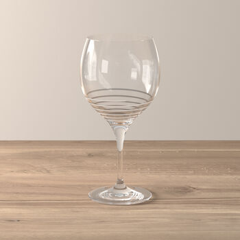 Maxima Decorated Burgundy Spiral Goblet