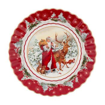 Toy's Fantasy Large Bowl: Santa & Forest Animals