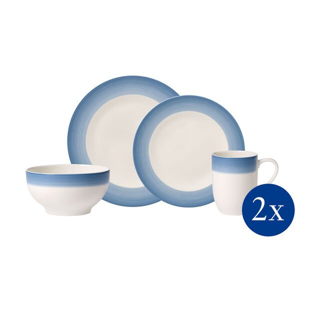 Colorful Life Winter Sky 8 Piece Dinner Set for 2, , large