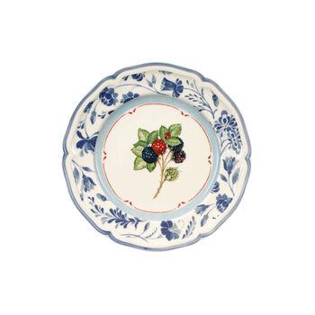 Cottage Blue Stencil Salad Plate