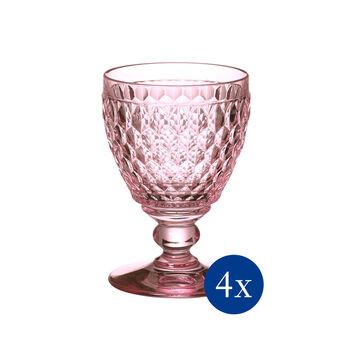 Boston Colored Claret: Rose, Set of 4