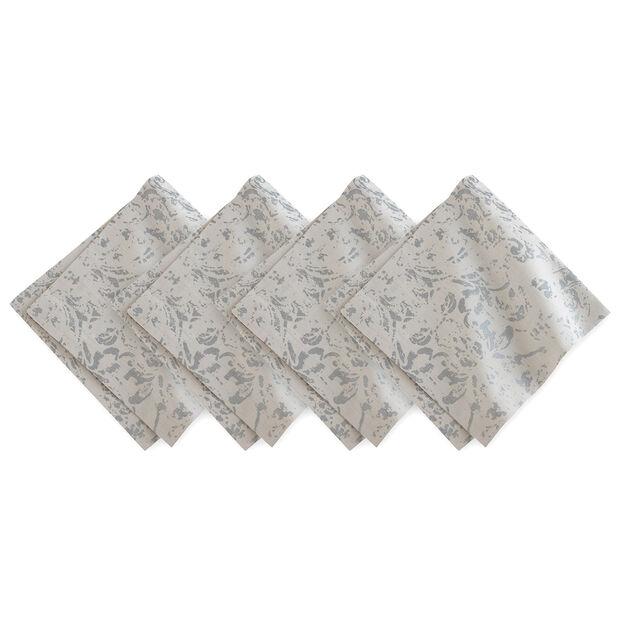Dove Grey Metallic Printed Napkin Set, , large