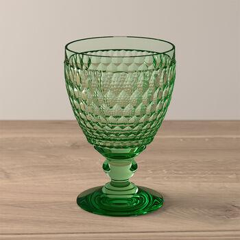Boston Colored Goblet: Green
