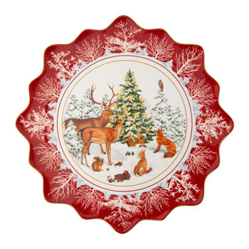 Toy's Fantasy Large Pastry Plate: Forest Animals
