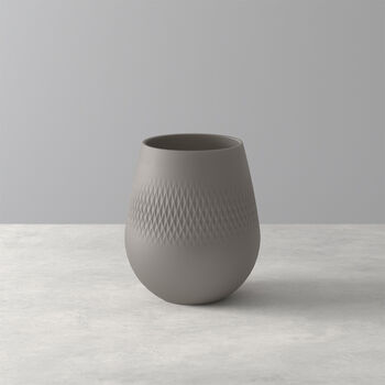 Manufacture Collier Taupe Carre Vase, Small