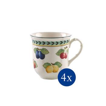 French Garden Fleurence Mug, Set of 4