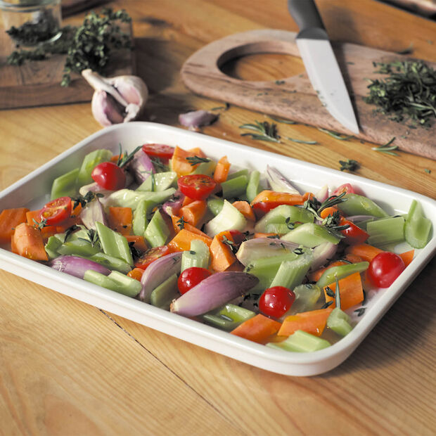 Clever Cooking Rectangle Serving Plate/Lid, Medium, , large