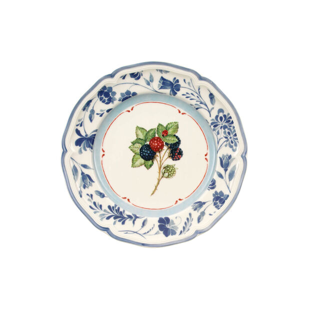 Cottage Blue Stencil Salad Plate, , large
