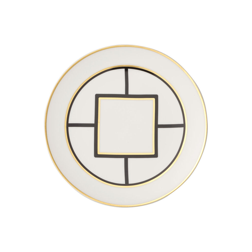 빌레로이 앤 보흐 '메트로 시크' 중접시 (샐러드 접시) Villeroy & Boch MetroChic Salad Plate : White Rim 8.5 in