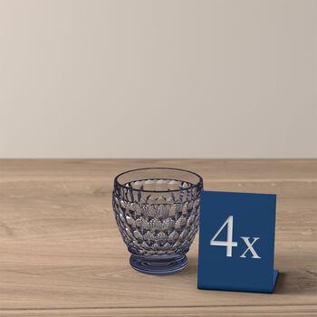 Boston Colored Shot Glass: Blue, Set of 4