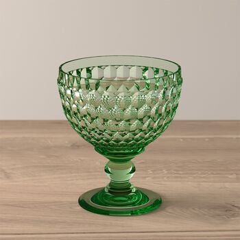 Boston Coloured Champagne/Dessert Bowl: Green