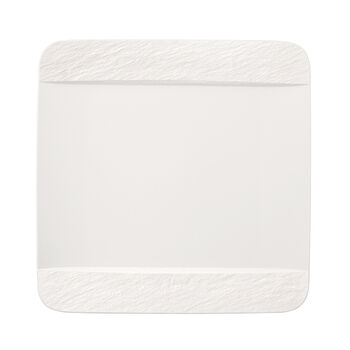 Manufacture Rock Blanc Square Dinner Plate