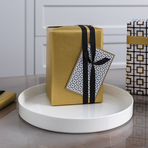 MetroChic Blanc Gifts Round Decorative Bowl, , large