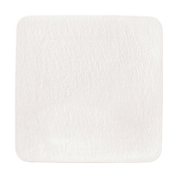 Manufacture Rock Blanc Square Serving Plate