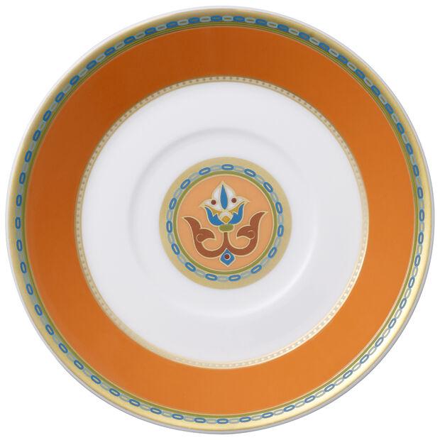 Samarkand Mandarin mocha/espresso cup saucer, , large
