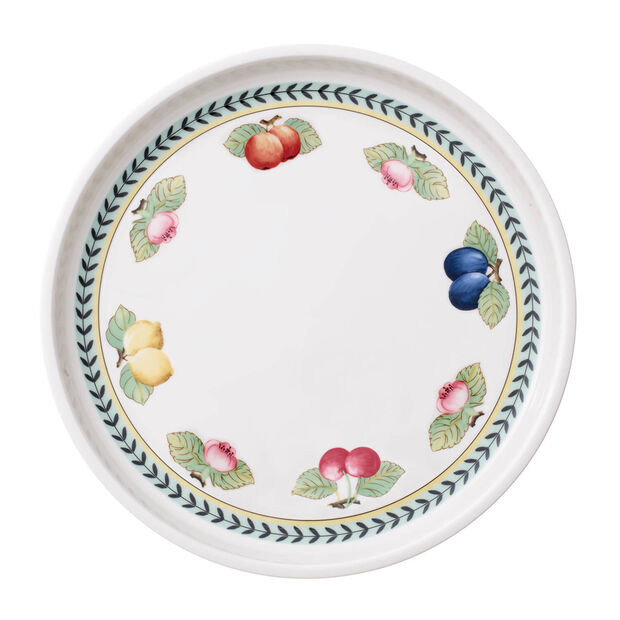 French Garden Baking Round Serving Plate/Lid, Large, , large