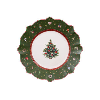 Toy's Delight Salad Plate: Green