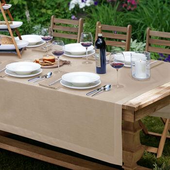 """La Classica Oblong Tablecloth: Natural, 70x96"""""""