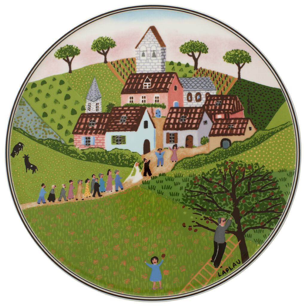 빌레로이 앤 보흐 디자인 나이프 Villeroy & Boch Charm & Breakfast Design Naif Cake Plate 11 3/4 in
