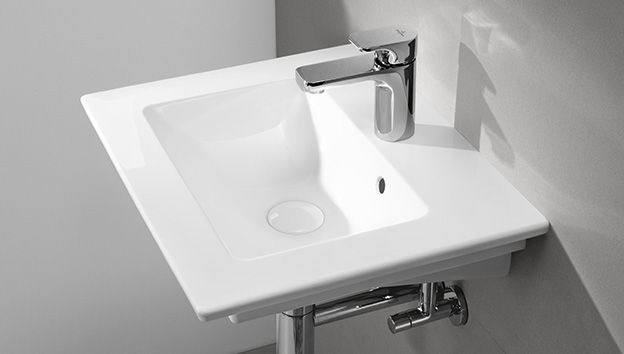 Small sinks. Small  efficiently installed Bathrooms   Villeroy   Boch