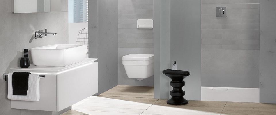 small bathroom with shower designs ideas villeroy boch. Black Bedroom Furniture Sets. Home Design Ideas
