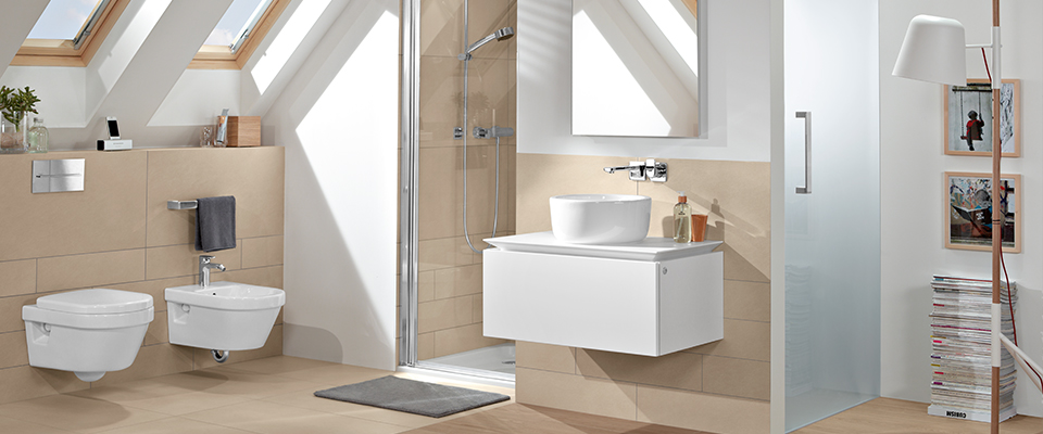 Architectura Collection By Villeroy Amp Boch 187 Geometric Bathroom Design