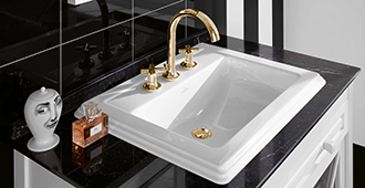 Sanitary porcelain washbasins from Villeroy Boch