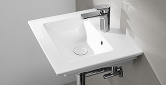 if you appreciate beautiful design even in the smallest spaces an elegant powder room sink from villeroy boch is exactly what you need - Villeroy Boch Basin