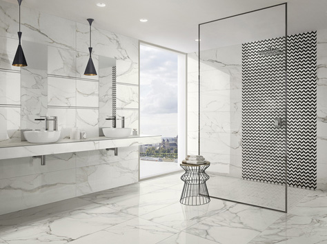 The Tiles Have Fine Light Coloured Veins U2013 A Very Elegant And Mystical  Variety. The Warm Radiance Of Pietra Grey Marble Is Reflected In The Deep  Pearl ...