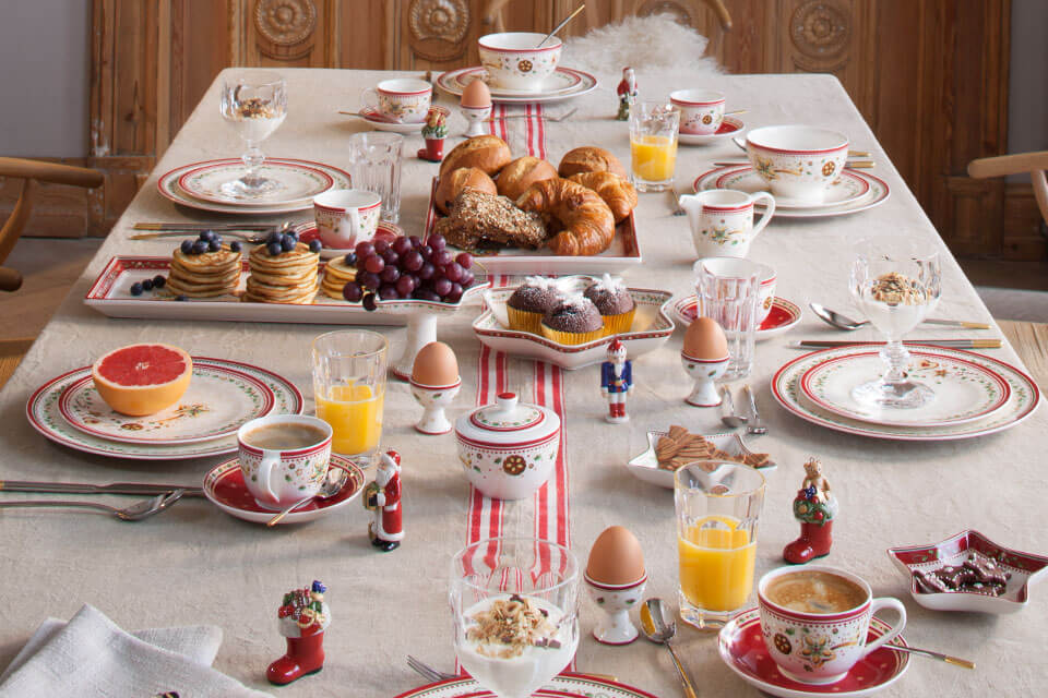 christmas breakfast with villeroy boch. Black Bedroom Furniture Sets. Home Design Ideas